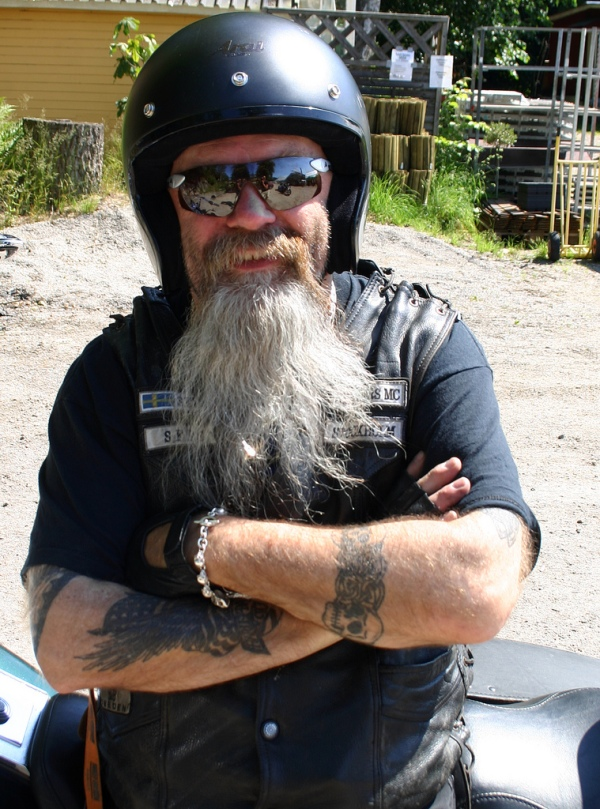 Badass biker with Dodonaea-inspired shades (Photo not of or by JB)