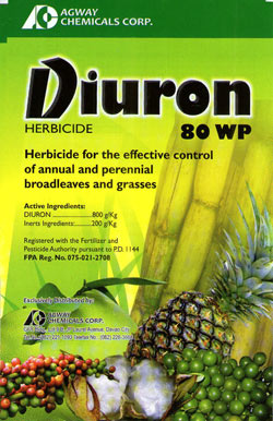Diuron is toxic false-fertilizer.  It kills mangroves, and yep, we have it in local waters.