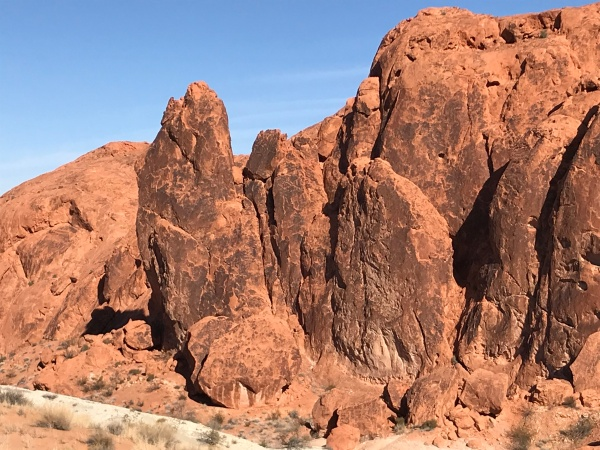 Desert varnish on big rocks